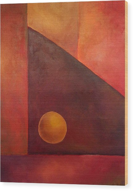 Abstract Composition Wood Print by Kim Cyprian
