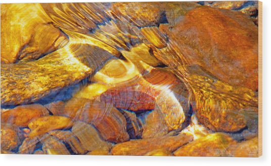 Abstract Creek Water 4 Wood Print
