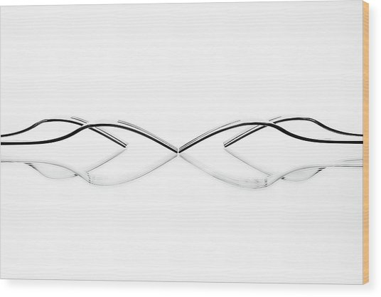 Abstract Cutlery Wood Print by Greetje Van Son