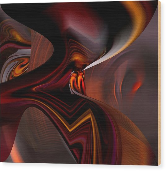 Abstract - Dark Passages Wood Print