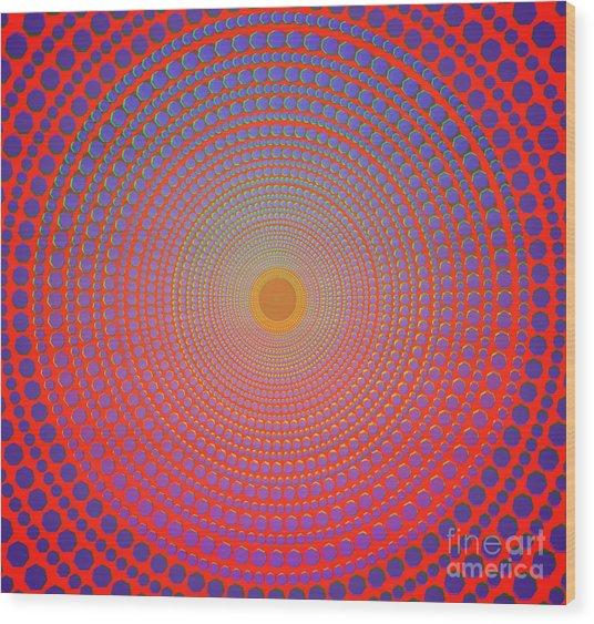 Abstract Dot Wood Print