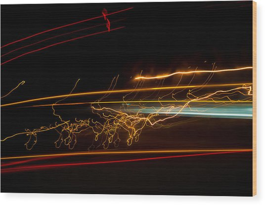 Abstract Evening Lights 1 Wood Print by Chase Taylor