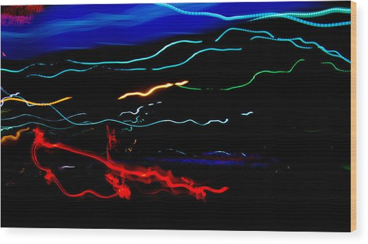 Abstract Evening Lights 2 Wood Print by Chase Taylor