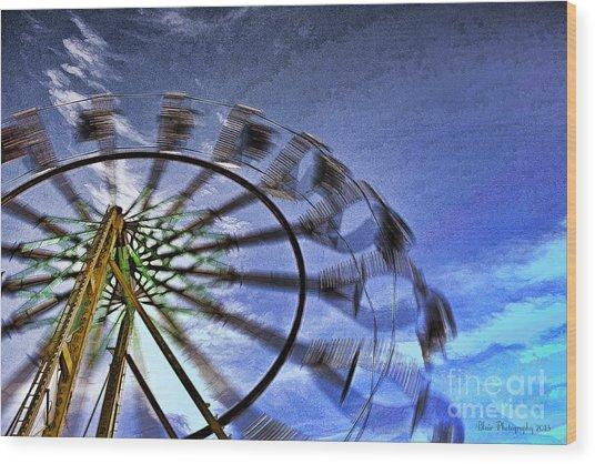 Abstract Ferris Wheel Wood Print