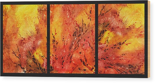 Abstract Fireplace Wood Print