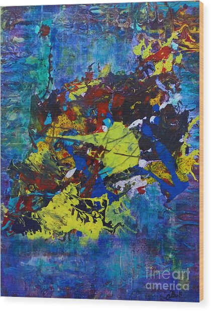 Abstract Fish  Wood Print