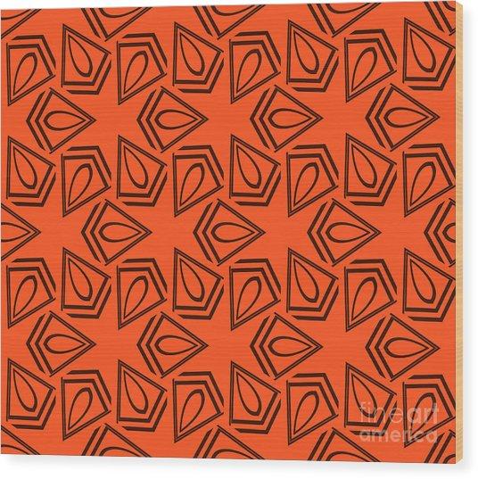 Abstract Geometric Seamless Pattern Wood Print