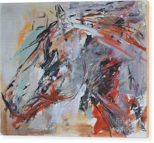 Abstract Horse 1 Wood Print