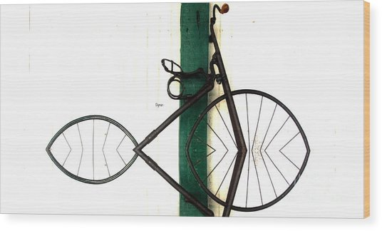 Abstract In Geometric Velocipede  Wood Print by Steven Digman