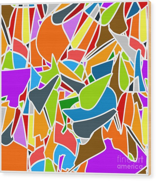 Abstract Kaleidoscope Vintage Cartoon Wood Print
