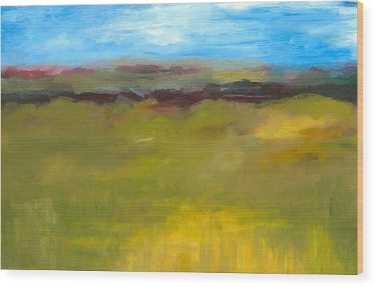 Abstract Landscape - The Highway Series Wood Print