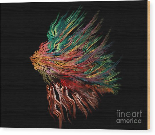 Abstract Lion's Head Wood Print