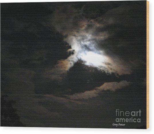 Abstract Moon Wood Print by Greg Patzer