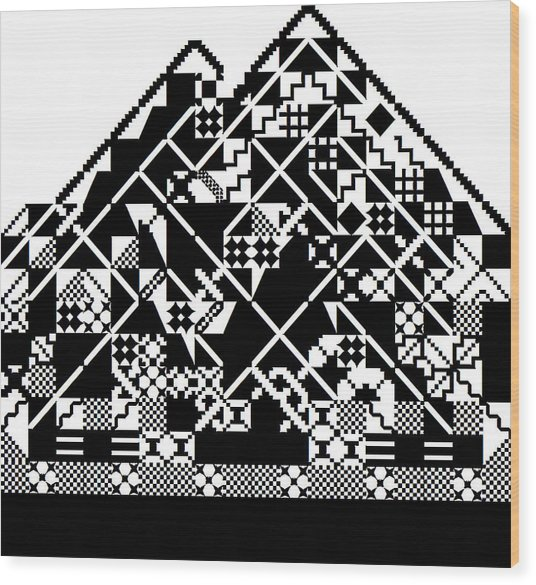 Abstract Mountain Wood Print