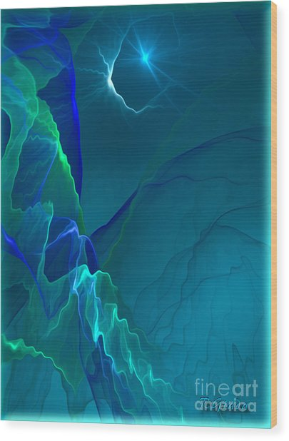 Abstract Night - Digital Art By Giada Rossi Wood Print