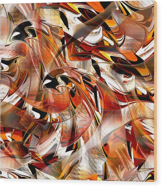 Wood Print featuring the digital art Birds Of Prey - 015 by rd Erickson