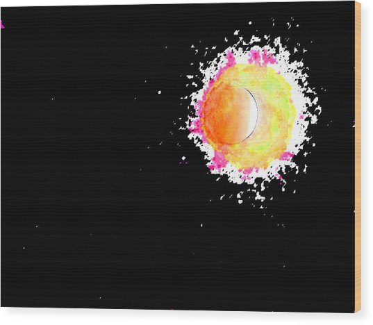 Abstract Of Eclipse Wood Print