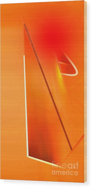 Abstract Orange Wood Print