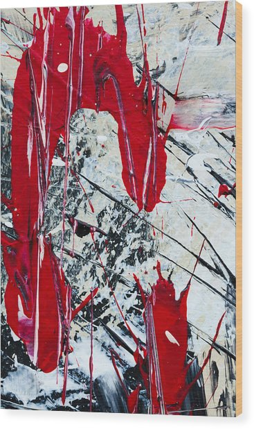 Abstract Original Painting Untitled Nine Wood Print