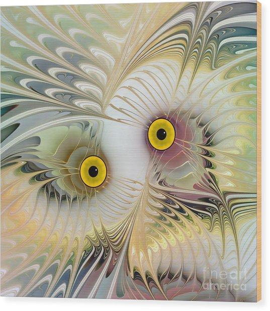 Abstract Owl Wood Print