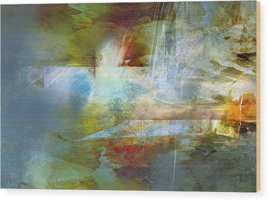 Abstract Painting - Psalms Wood Print