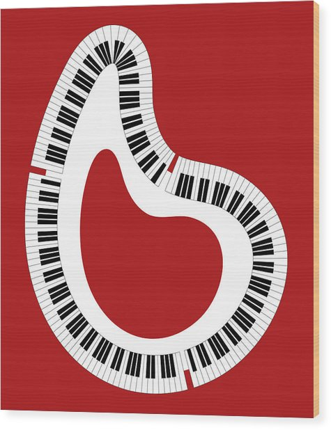 Abstract Piano Wood Print by Frank Tschakert