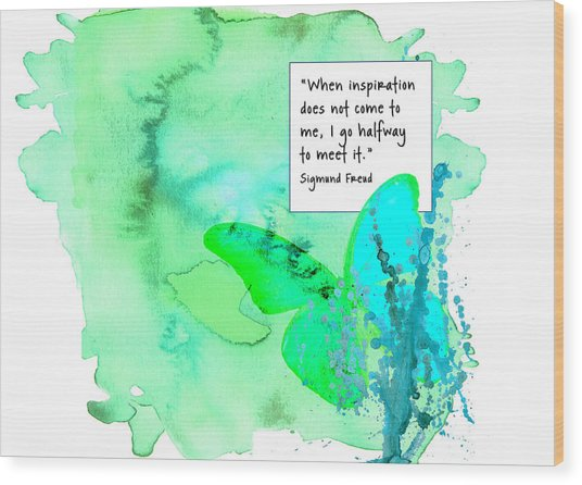 Abstract Quote 1 Wood Print