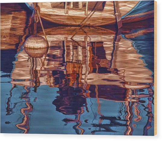 Abstract Reflections Wood Print