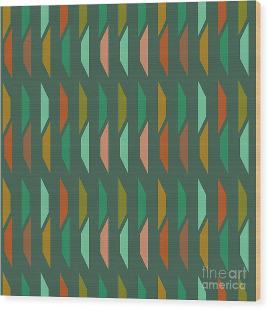 Abstract Retro Pattern.vector Wood Print