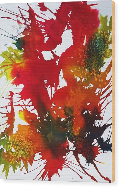 Abstract - Riot Of Fall Color II - Autumn Wood Print