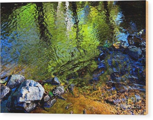 Abstract Ripples Wood Print