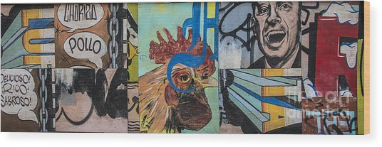 Abstract Rooster Panel Wood Print