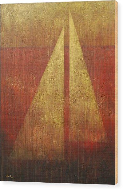 Abstract Sail Wood Print