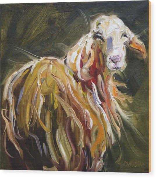 Abstract Sheep Wood Print