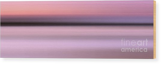 Abstract Sunset 1 Wood Print