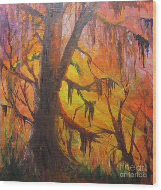 Abstract Swamp Wood Print