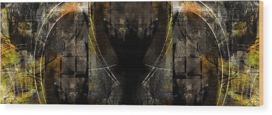 Abstract Symmetry Wood Print