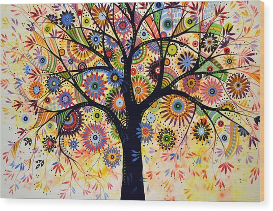 Abstract Tree Painting ... Life Giver Wood Print