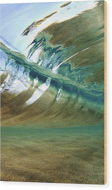 Abstract Underwater 2 Wood Print