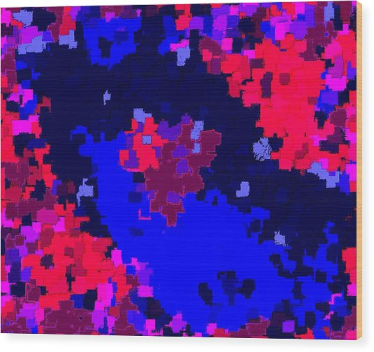 Abstract Valentine 6-13 Wood Print by L Brown