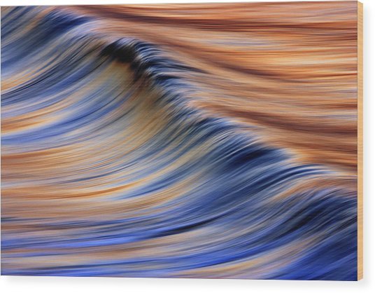 Abstract Wave 2  C6j7799 Wood Print