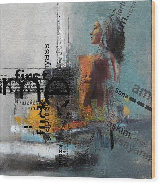 Abstract Women 013 Wood Print