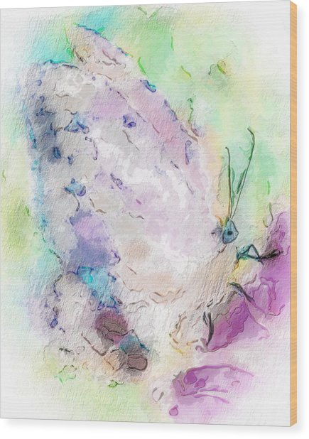 Abstracted Butterfly Wood Print by Jill Balsam