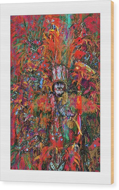 Abstracted Mummer Wood Print