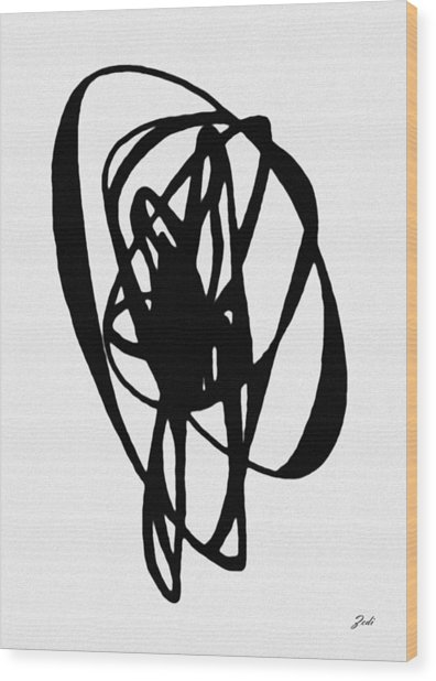 Astratto - Abstract 19 Wood Print