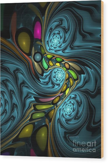 Abstraction 254-06-13 Marucii Wood Print