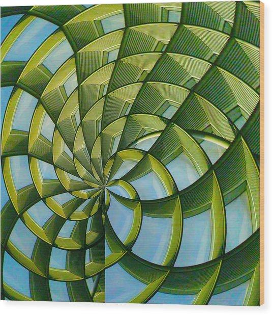 Abstraction A La M. C. Escher Wood Print