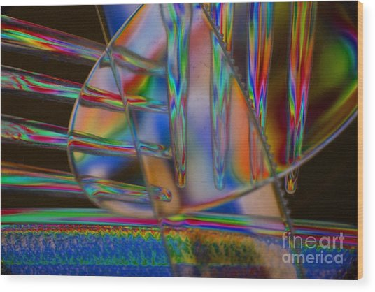 Abstraction In Color 1 Wood Print