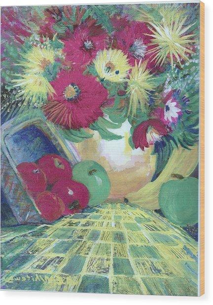Abundance II Wood Print by Anne-Elizabeth Whiteway