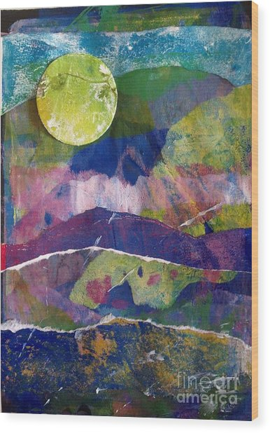 Abundant Moon Wood Print